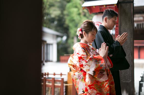 上州和婚物語で神前式